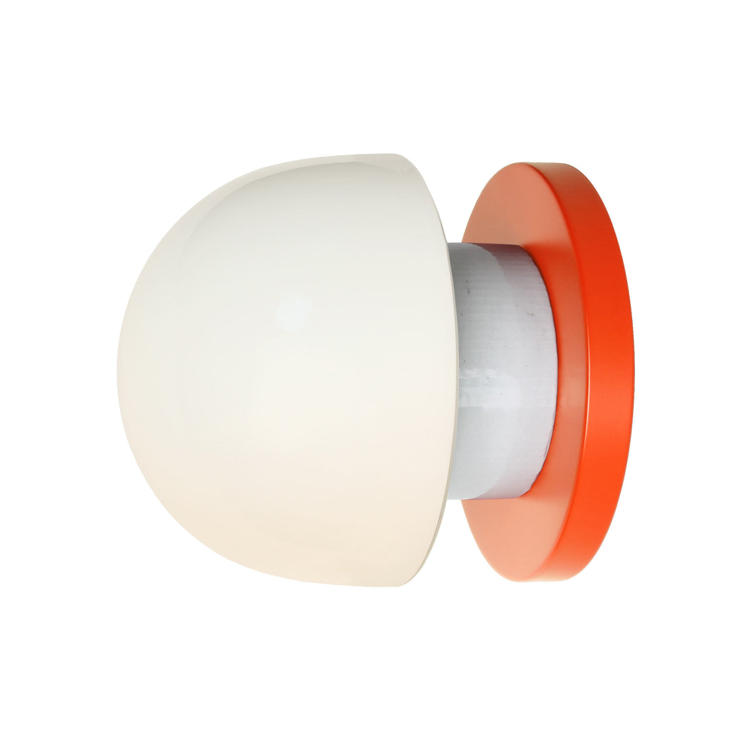Anni wall or ceiling light. Shown in Persimmon finish. (LED light bulb included). Cedar and Moss.
