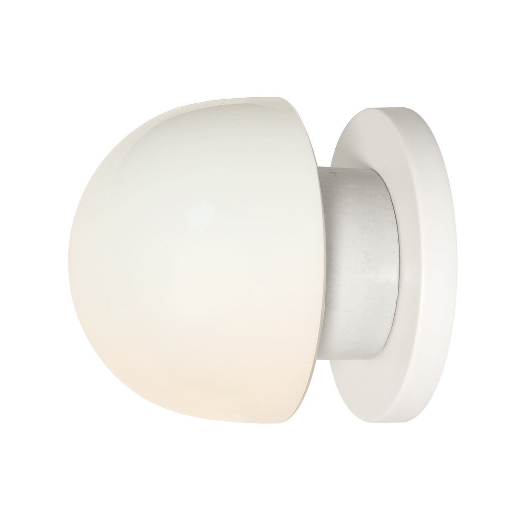 Anni wall or ceiling light. Shown in White finish. (LED light bulb included). Cedar and Moss.