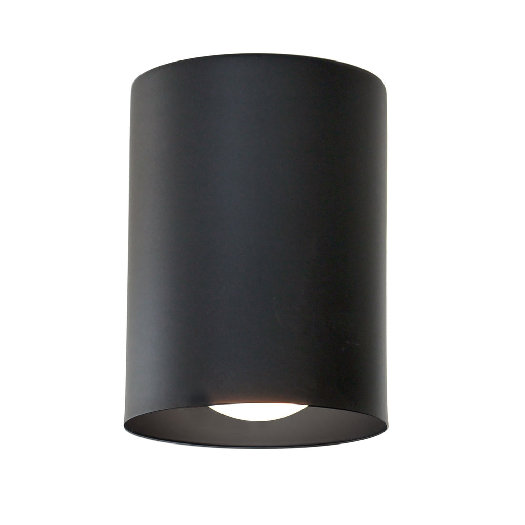 Cape Long Surface Fixture. Shown in Matte Black Finish. Cedar and Moss.