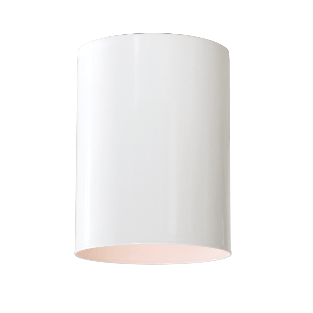 Cape Long Surface Fixture. Shown in White Finish. Cedar and Moss.
