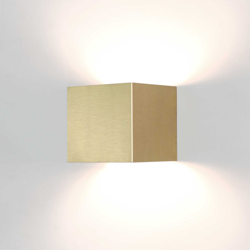 Elliott Sconce. Shown in Brass finish. Cedar and Moss.