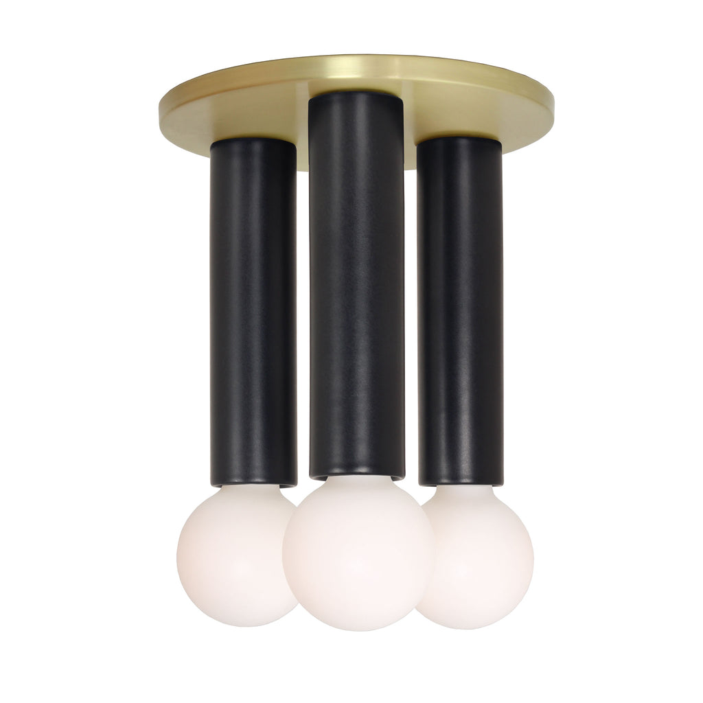 Fiona 3 Surface. Shown with Brass canopy and Eclipse Black ceramic cups. (G25 bulbs shown, not included). Cedar and Moss.