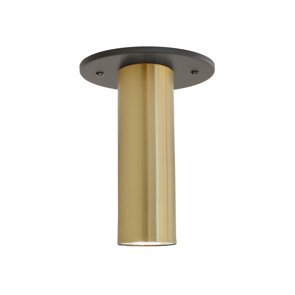 Fjord Surface. Shown in Brass + Matte Black Finish. Recessed + LED bulb option (bulb included). Cedar and Moss.