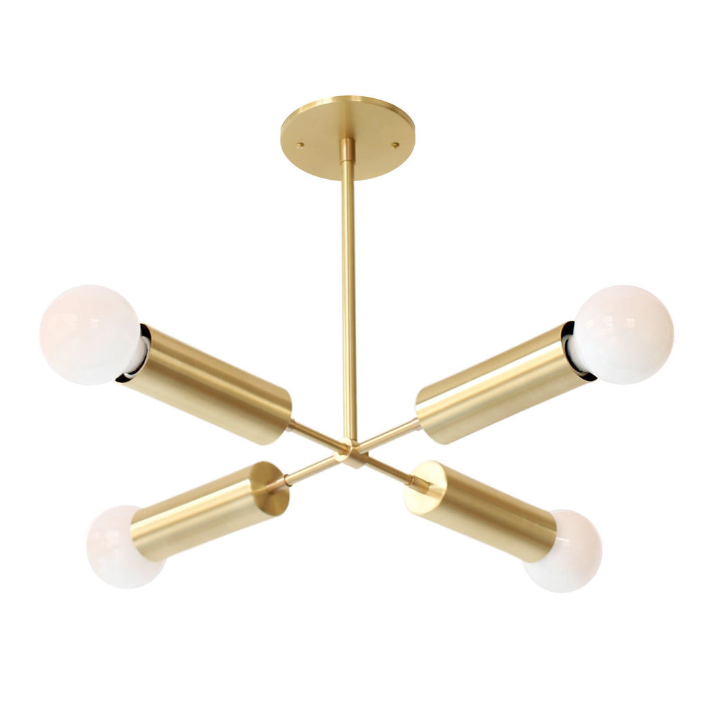 Fjord Compass Chandelier. Shown in Brass finish. (G25 light bulbs shown, not included). Cedar and Moss.
