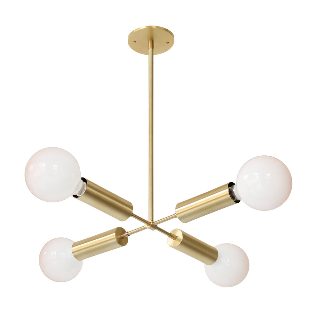 Fjord Compass Chandelier. Shown in Brass finish. (G40 light bulbs shown, not included). Cedar and Moss.