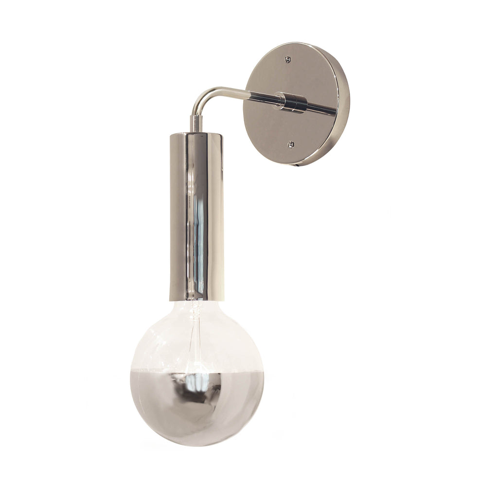Cedar and Moss. Fjord Sconce. Shown in Polished Nickel Finish.
