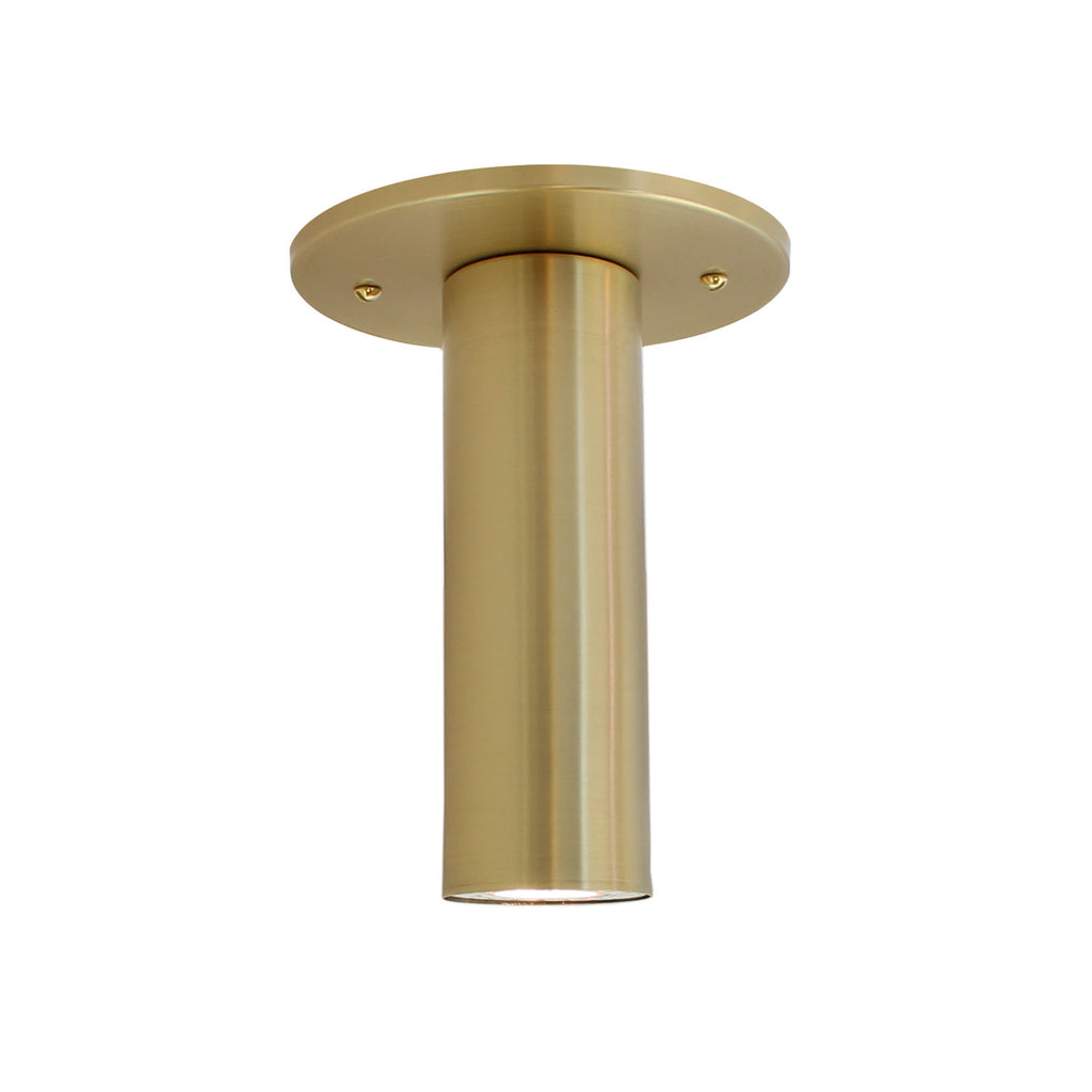 Fjord Surface. Recessed + LED bulb option (bulb included). Shown in Brass Finish. Cedar and Moss.