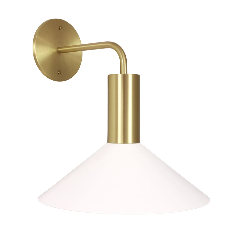 Cedar and Moss. Juniper Sconce. Shown in White and Brass finish. (G25 light bulbs shown, not included).