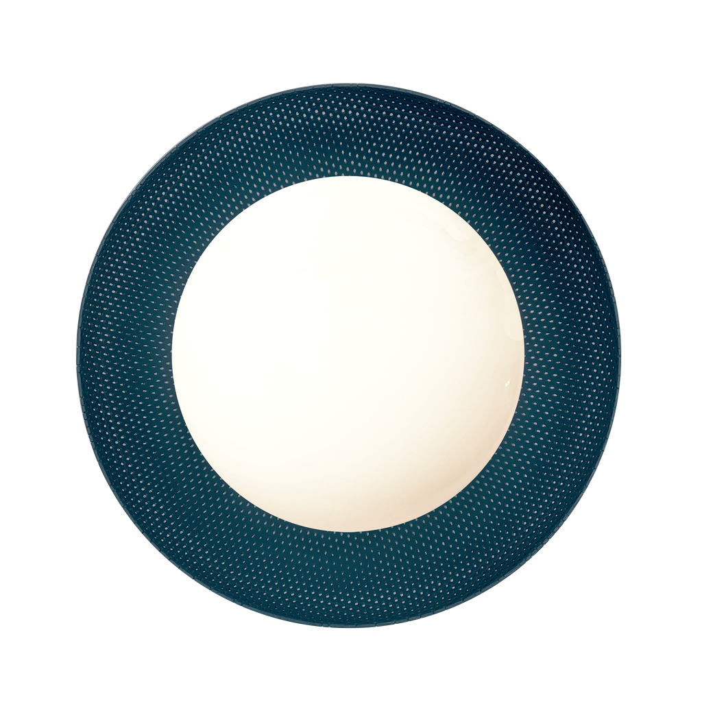 Lexi Surface or Sconce. Shown in Ocean Blue finish. Cedar and Moss.