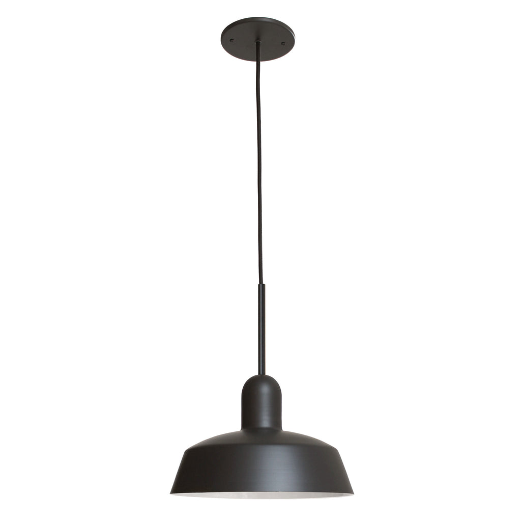 "Meadowlark 11"" Luxe Cord Pendant. Shown in Matte Black finish. Cedar and Moss."