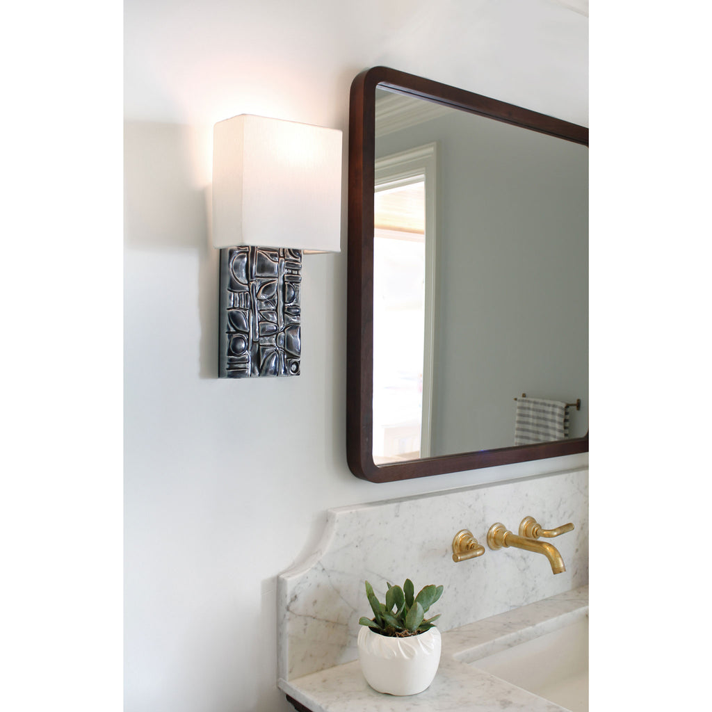 Cedar and Moss. Asch Sconce. Shown in Blue W96 ceramic. Photography by Michelle Aaro.