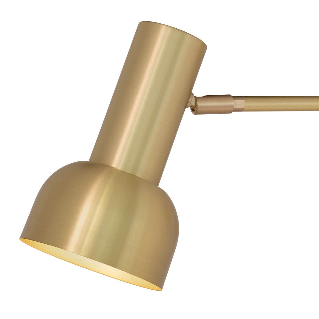Scout Shade. Shown in Brass finish. Cedar and Moss.