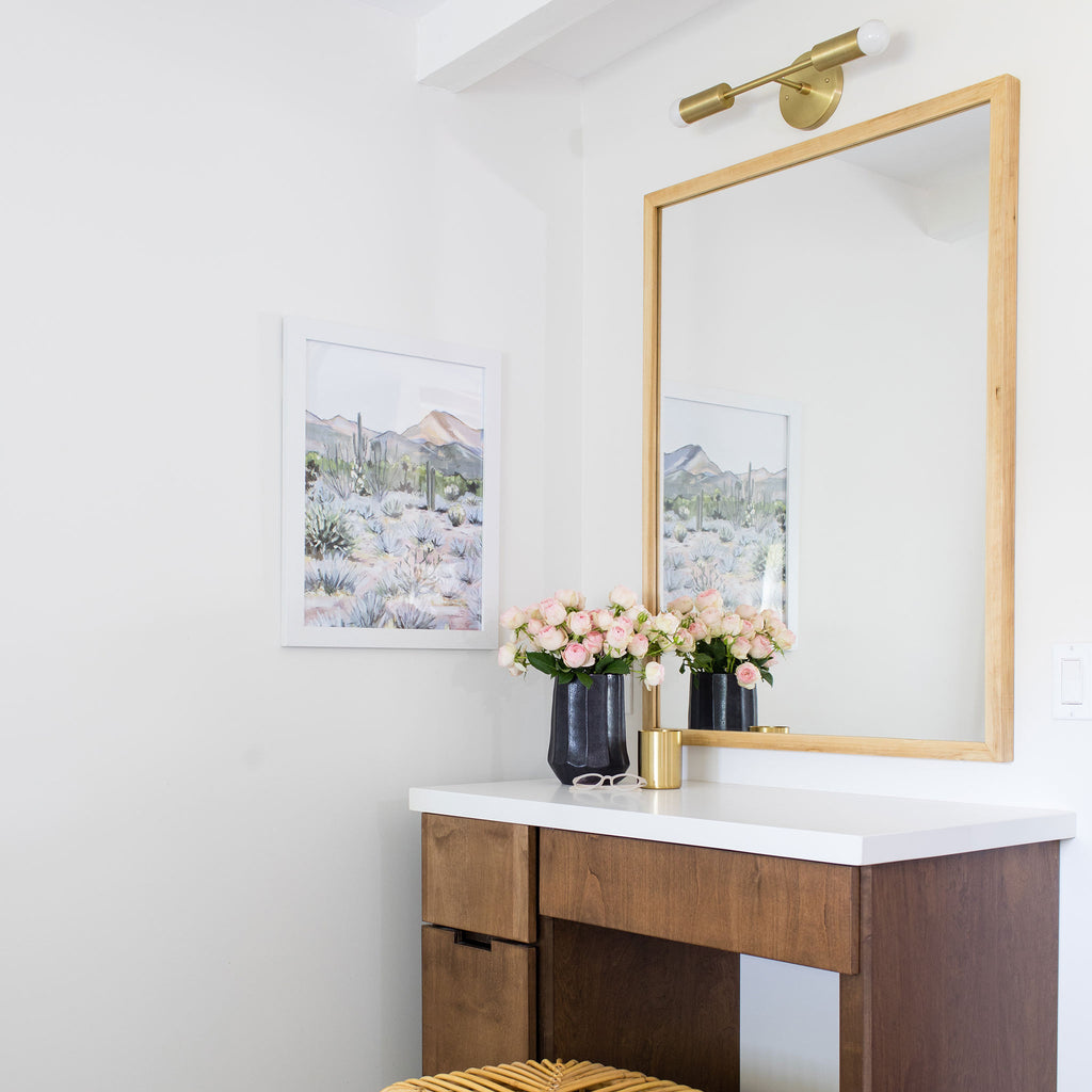 Cedar and Moss Venus Sconce in brass, Interior Design by Jenny Komenda of Juniper Studio