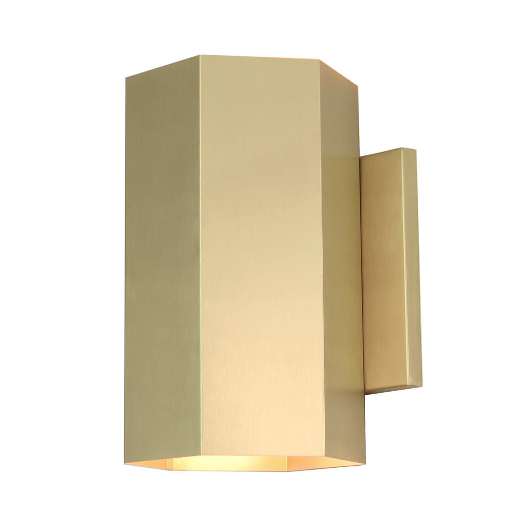 Viviane Sconce. Shown in Brass finish. Cedar and Moss.
