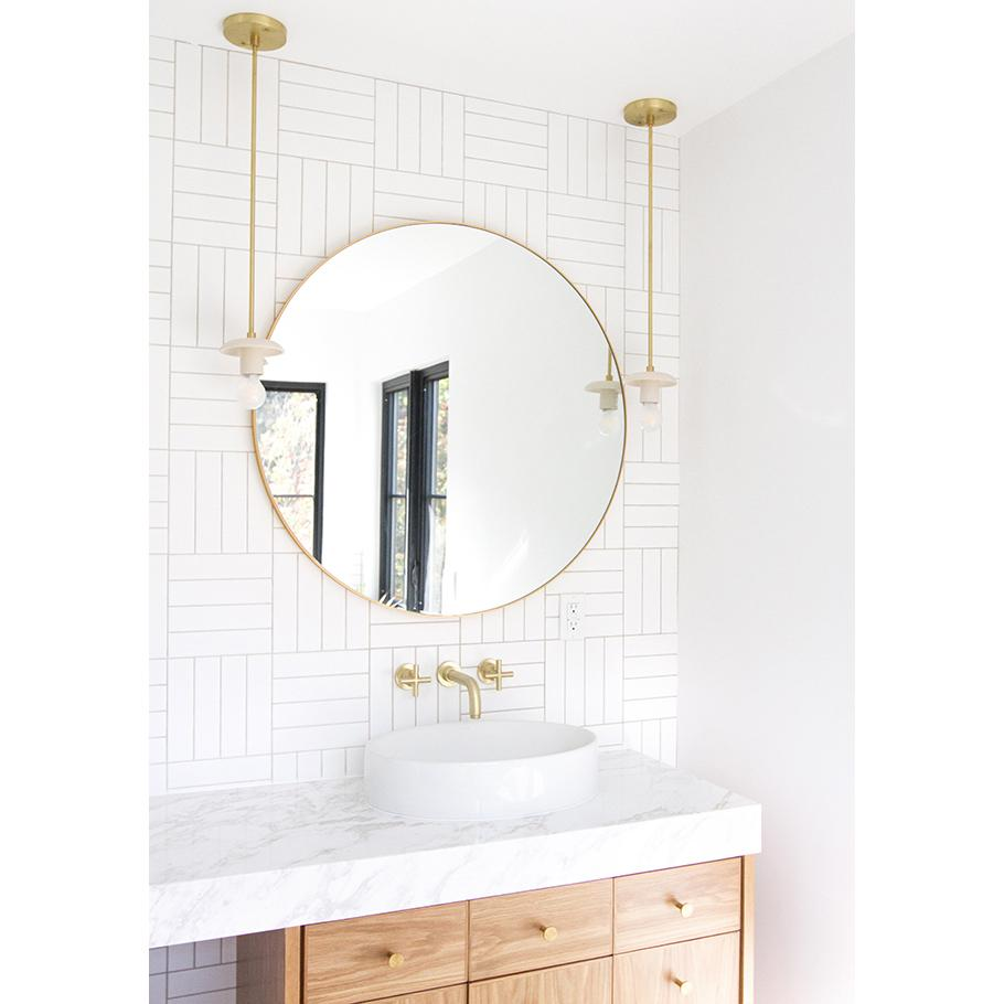 Archer Pendant in bone + brass, interior and product design by Sarah Sherman Samuel