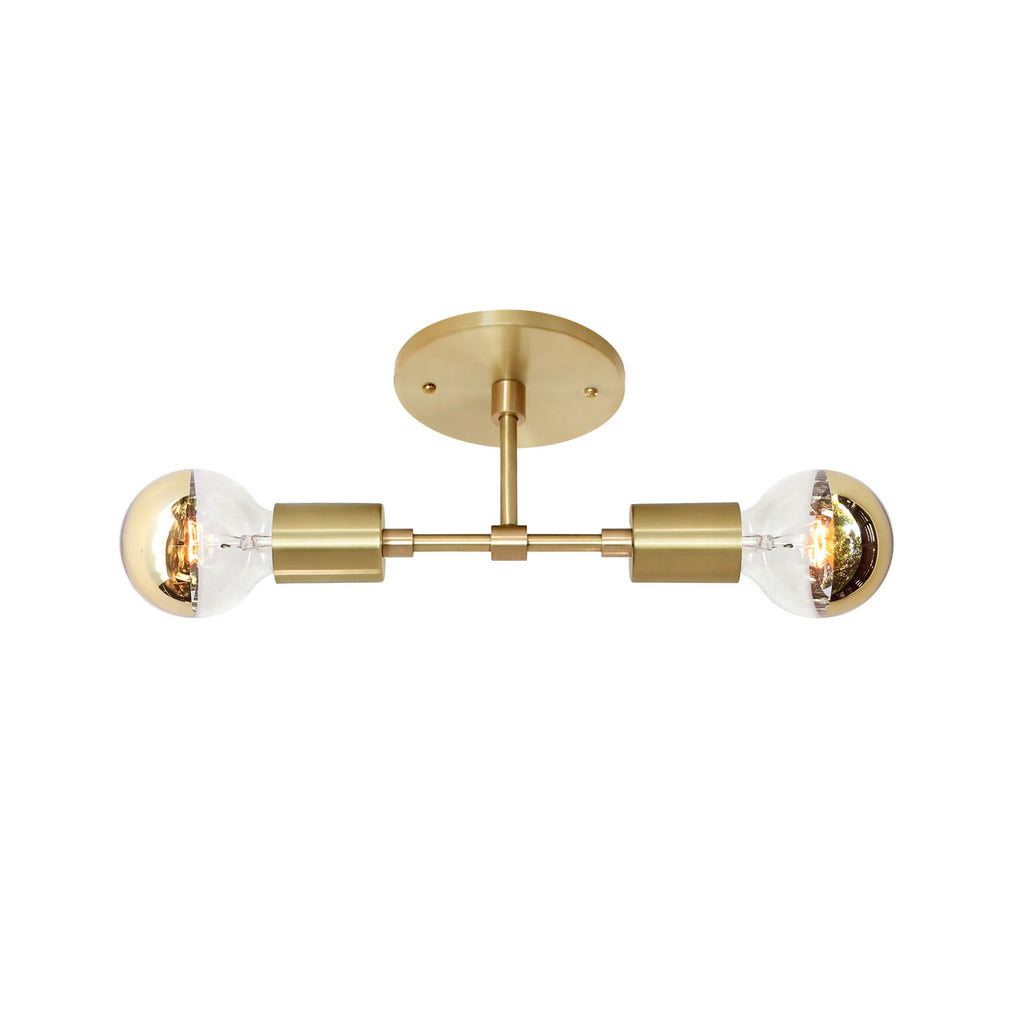 Vista 2 Wall Sconce. Shown in Brass finish. (G25 half gold light bulb shown, not included). Cedar and Moss.