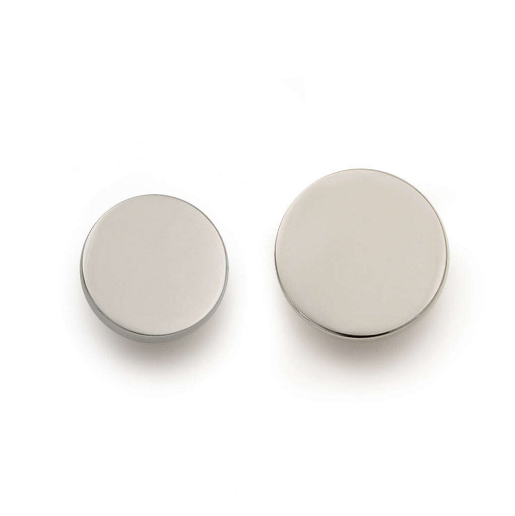Cedar and Moss. Jackie Hardware Knob. Shown in Polished Nickel Finish.