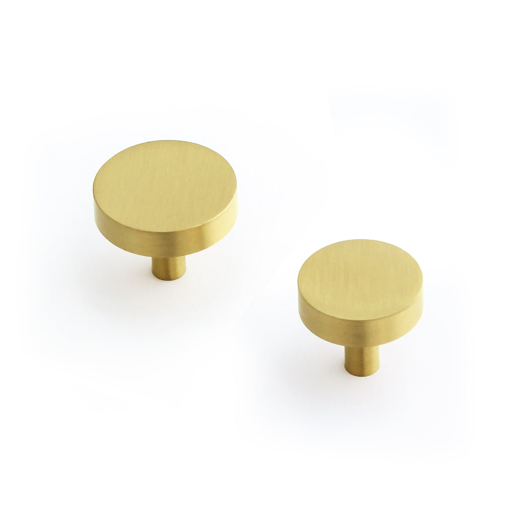 Cedar and Moss. Jane Hardware Knob. Shown in Brass Finish.