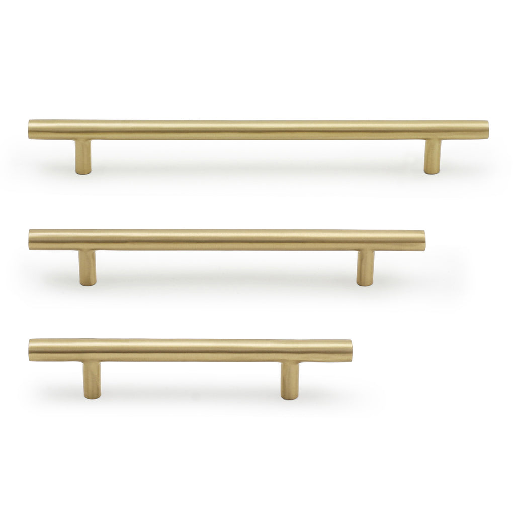 Cedar and Moss. Lorraine Hardware Pull. Shown in Brass Finish.