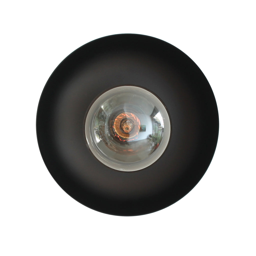 Cedar and Moss. Lucia Surface or Sconce. Shown in Matte Black Finish.