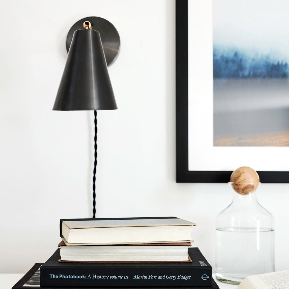 Tilt Cone Sconce. Styled and photographed by Rachel Meadow