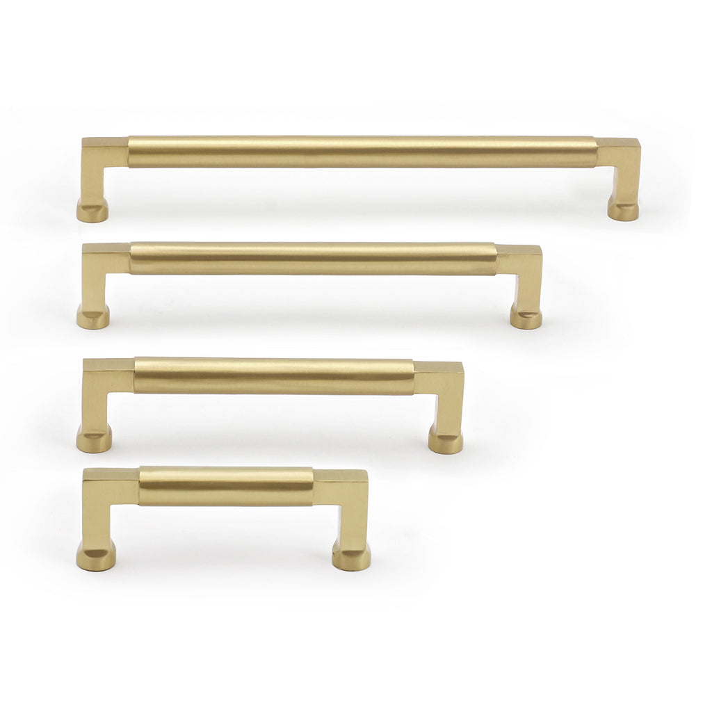 Cedar and Moss. Tanis Hardware Pull. Shown in Brass Finish.