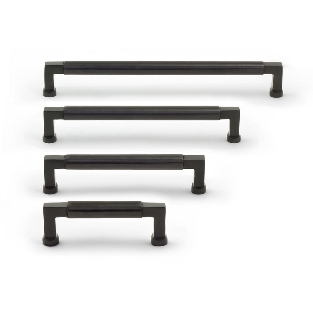 Cedar and Moss. Tanis Hardware Pull. Shown in Satin Black Finish.