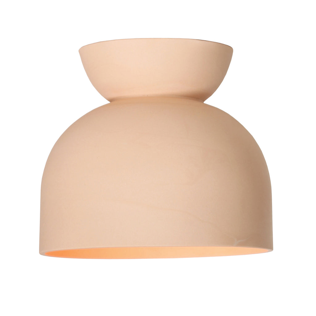 Cedar and Moss. Terra Surface. Shown in Coral. (G25 light bulb shown, not included).