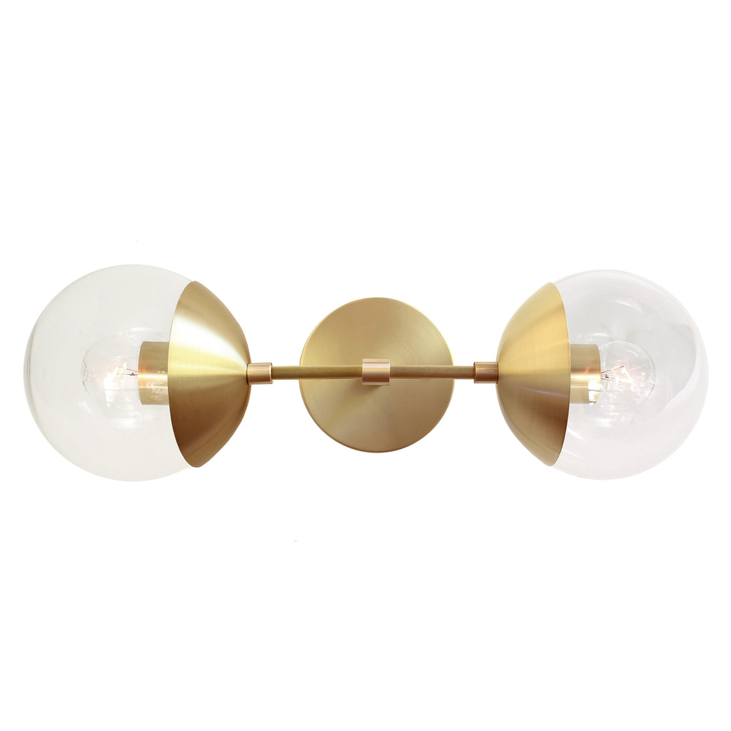 "Cedar and Moss. Theo 6"" sconce. Shown in brass finish."