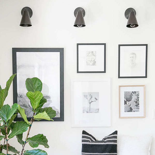 Tilt Cone Sconces. By Sugar and Charm & Smitten Studio