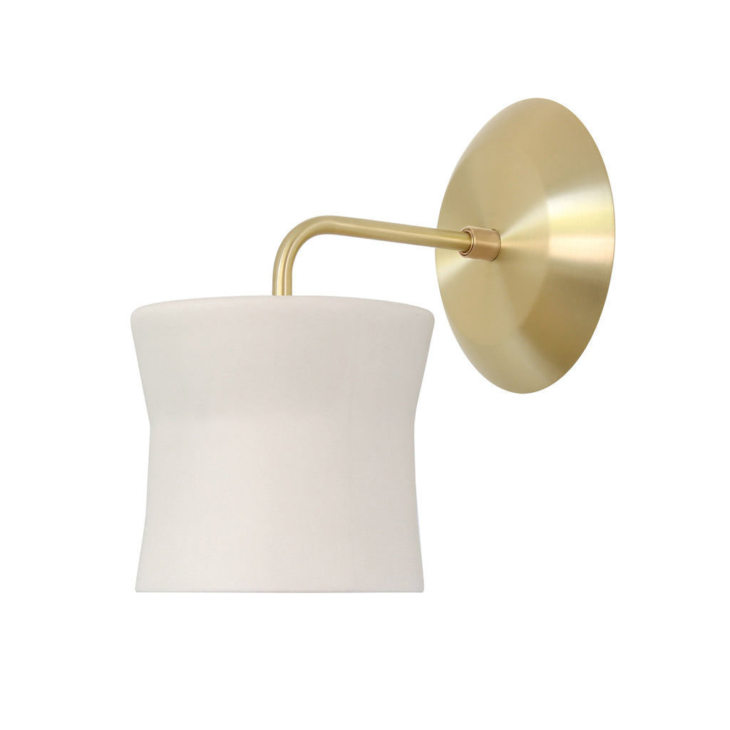 Cedar and Moss. Wyatt Sconce. Shown in Brass Finish.