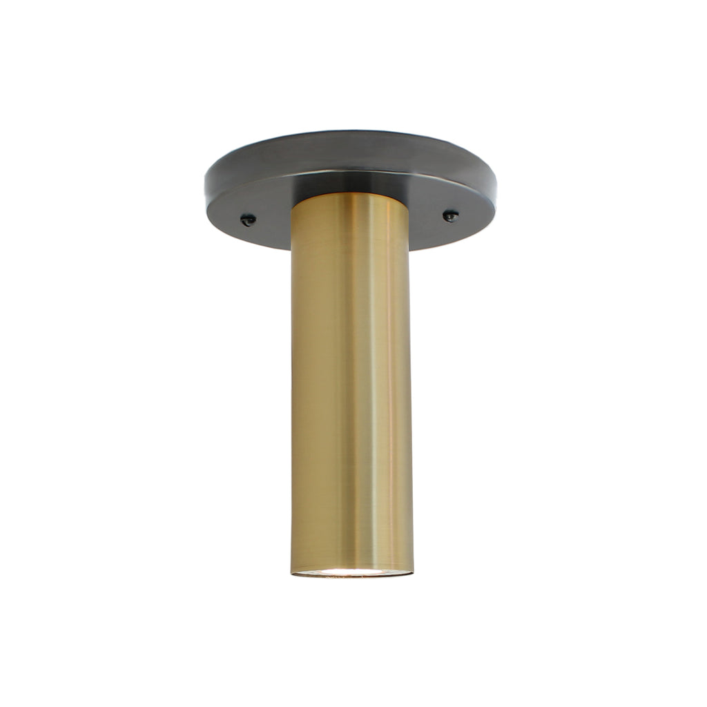 Fjord Surface. Shown in Graphite Patina + Brass Finish. Recessed + LED bulb option (bulb included). Cedar and Moss.