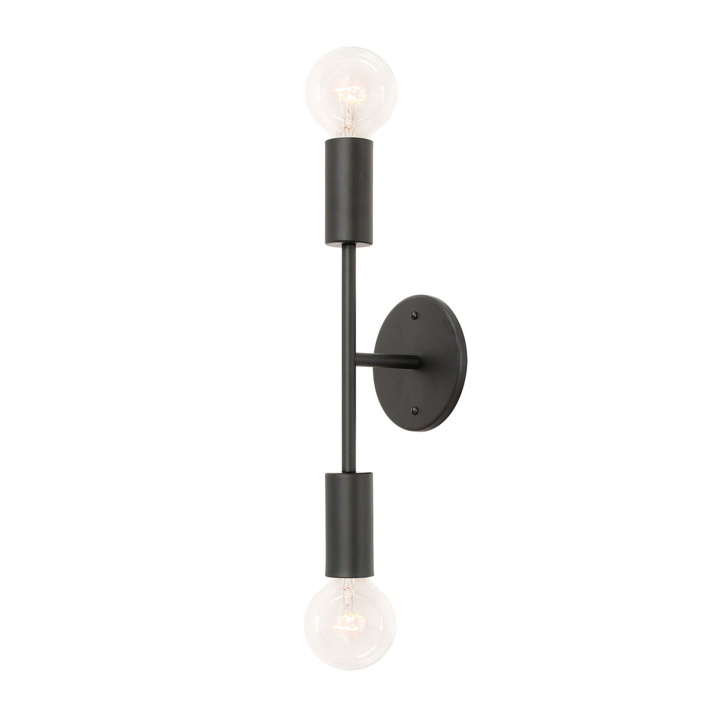 Venus Wall Sconce. Shown in Matte Black finish. (G25 clear light bulbs shown, not included). Cedar and Moss.