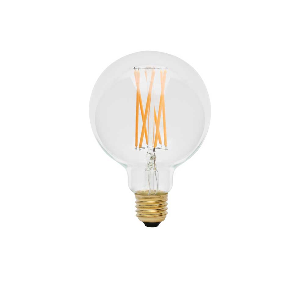 Tala Elva 6 watt G30 clear filament LED light bulb available at Cedar and Moss.