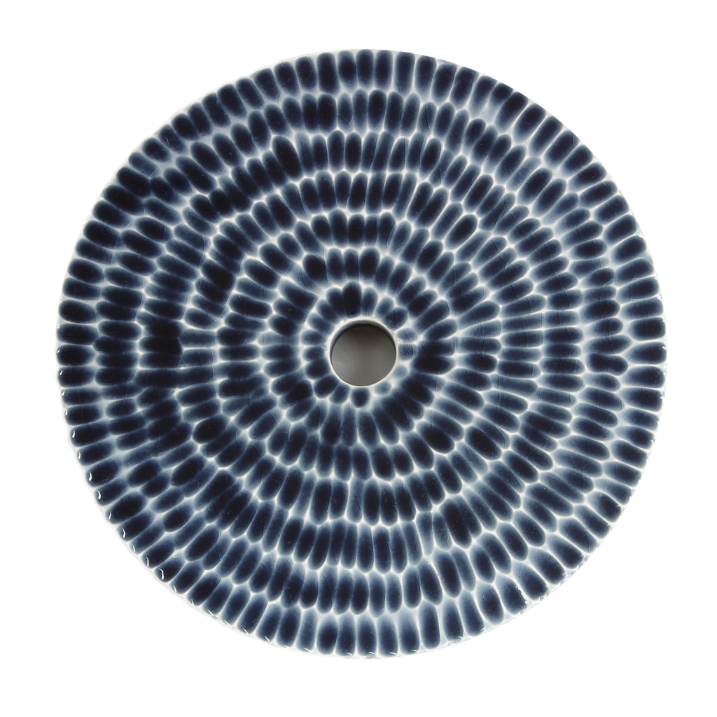 Sunflower Design - Indigo Blue Ceramic