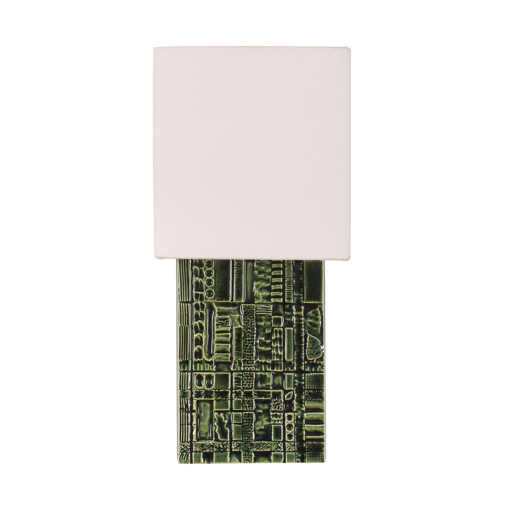 Cedar and Moss. Izzy Sconce. Shown in Forest Green ceramic.