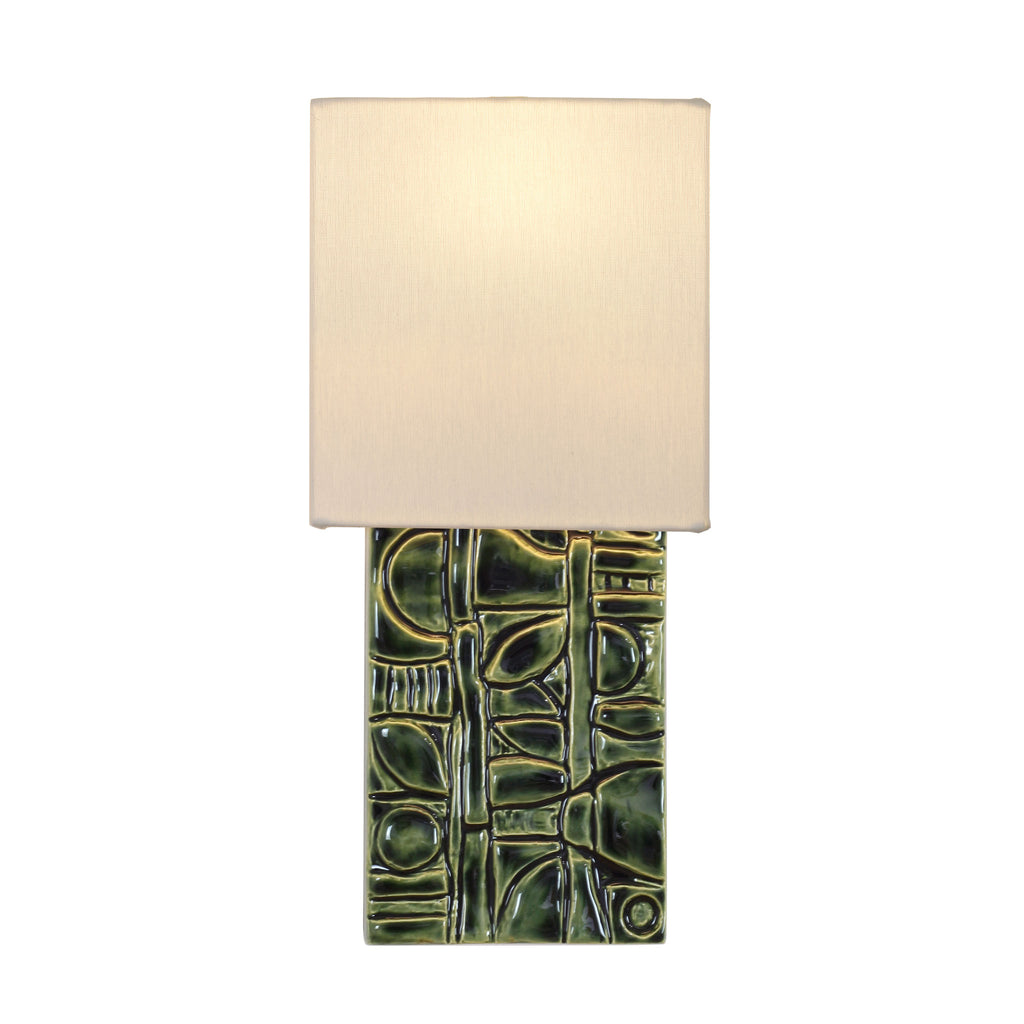 Cedar and Moss. Asch Sconce. Shown in Green R210 ceramic.