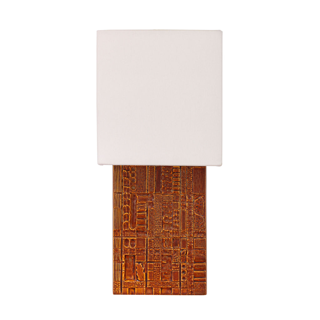 Izzy Sconce. Shown in Varied Rust ceramic. Cedar and Moss.