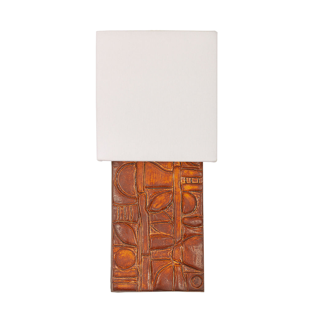 Cedar and Moss. Asch sconce. Shown in Varied Rust C18 ceramic.