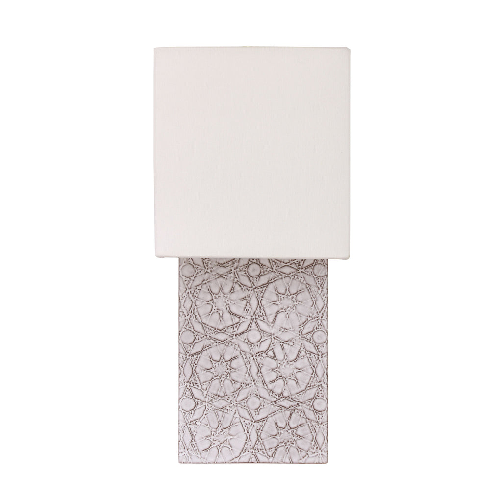 Cedar and Moss. Pratt Sconce. Shown in Brownstone White ceramic.