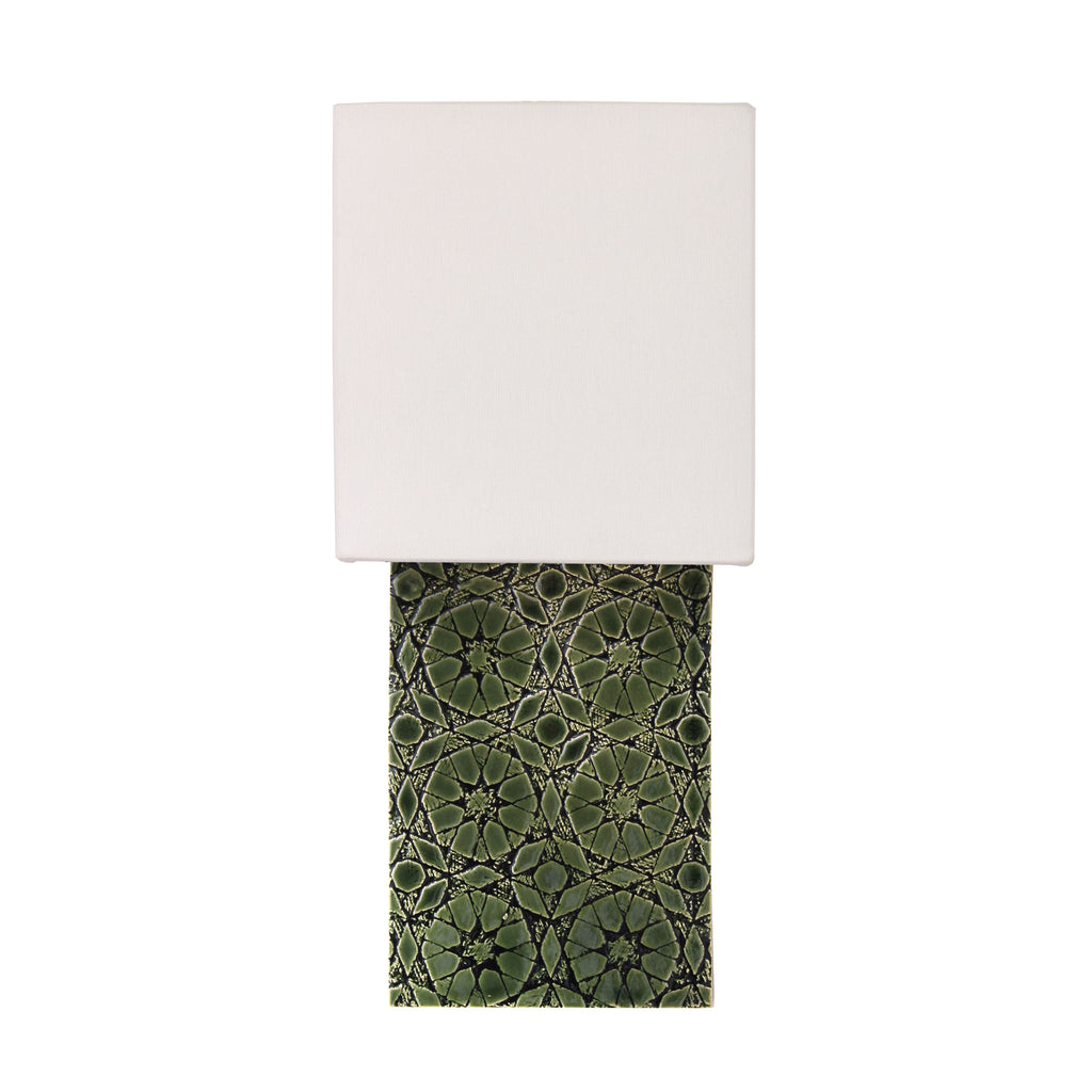 Cedar and Moss. Pratt Sconce. Shown in Green R210 ceramic.