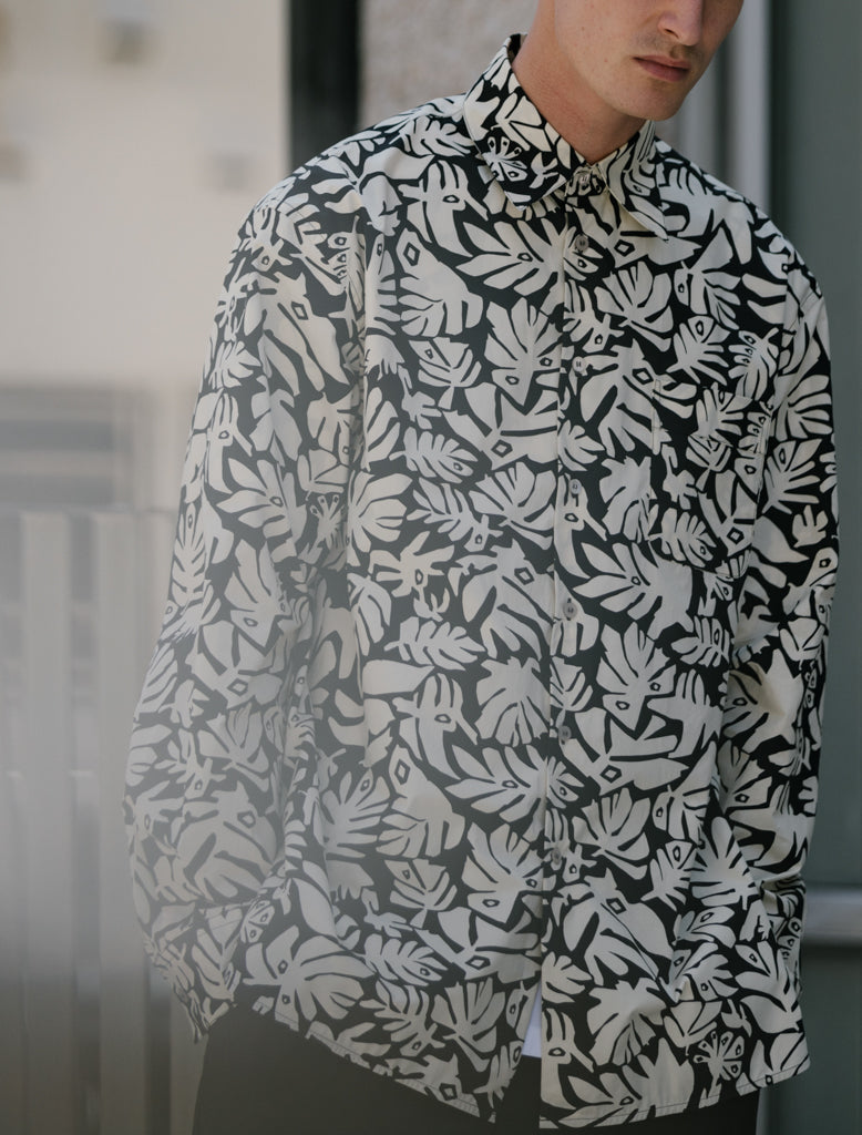 MARNI LEAVES PRINT LS SHIRT