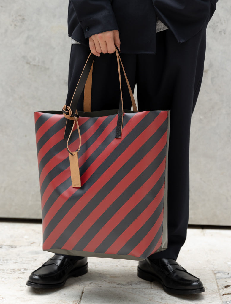 COATED PVC TOTE - STRIPED
