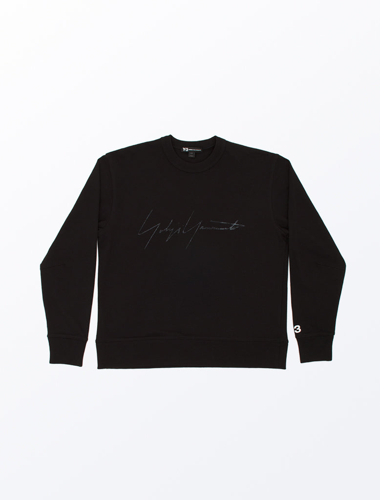 DISTRESSED SIGNATURE CREW SWEATSHIRT