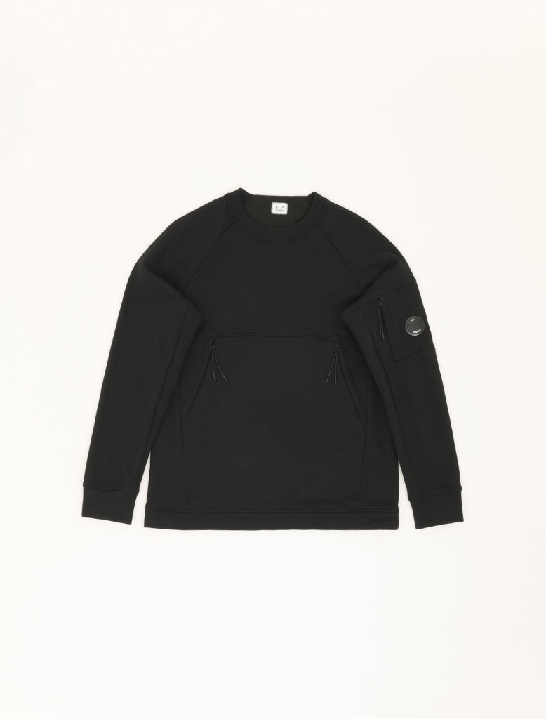 DIAGONAL RAISED FLEECE UTILITY SWEATSHIRT