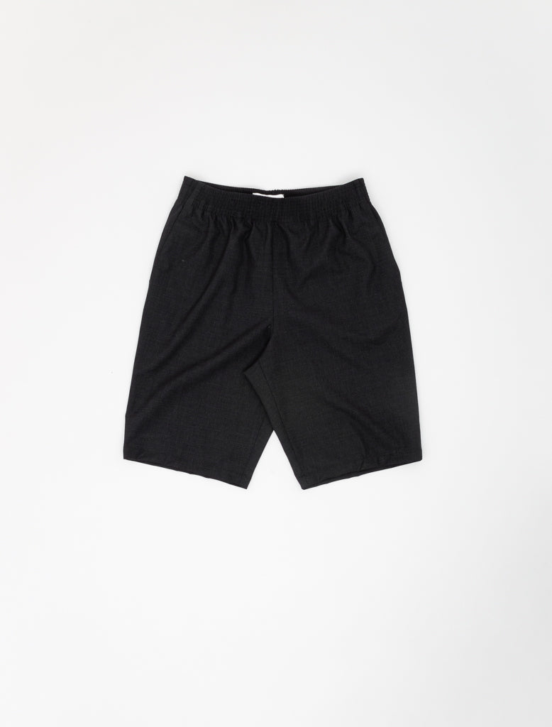 CELLAR DOOR ALFRED SHORTS WOOL CHARCOAL 1