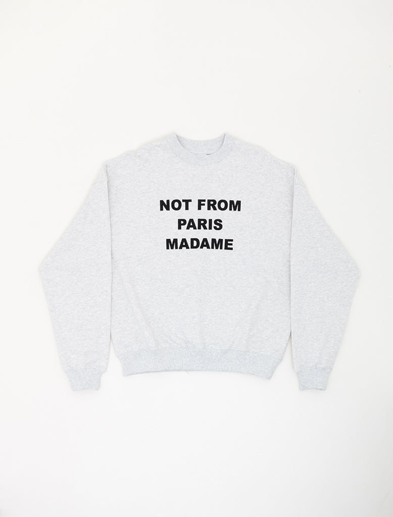 SLOGAN EMBROIDERED SWEAT