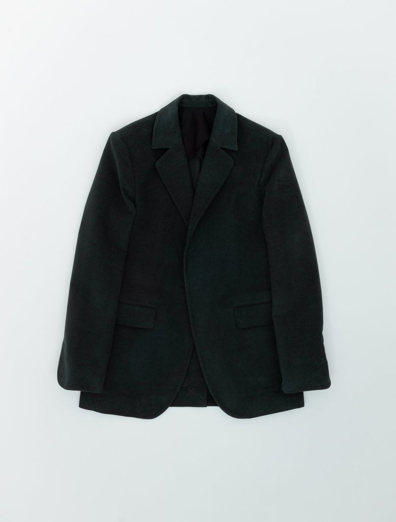 DEVEAUX ELONGATED BLAZER DARK GREEN 1