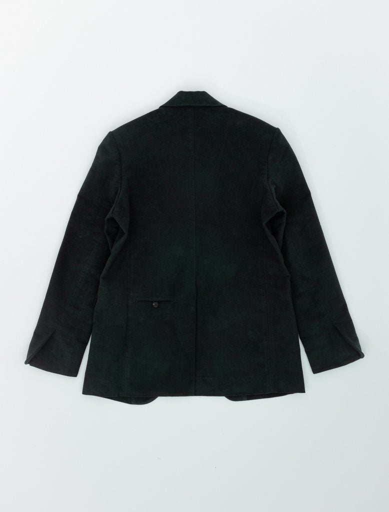 DEVEAUX ELONGATED BLAZER DARK GREEN 2
