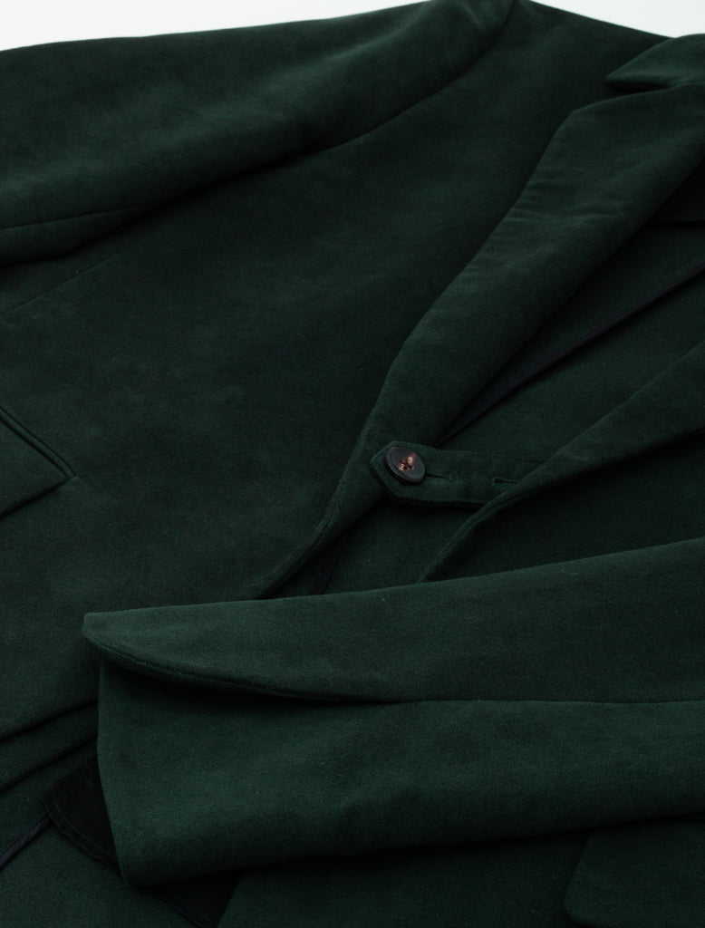 DEVEAUX ELONGATED BLAZER DARK GREEN 3